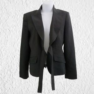 Anne Klein Blazer with fabric belt dark gray sz 8